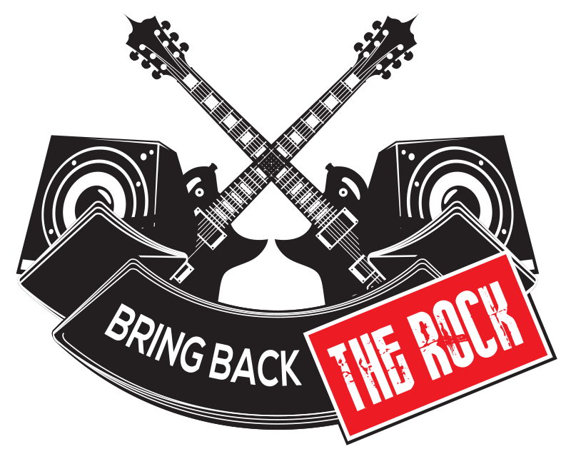 bring back the rock logo square